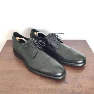 Cole Haan Captoe Oxfords Bluchers Formal Dress Leather Shoes