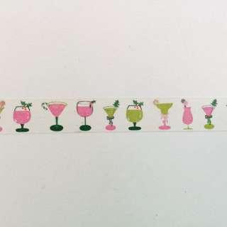 Cocktails Washi Tape 15mm x 10m #GJ14