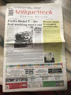 Antique Week Newspaper