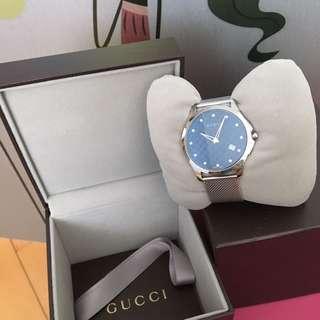Gucci碎鑽鋼錶