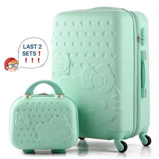 ❗️FREE Hello Kitty luggage cover with every set purchased❗️Brand New Hello Kitty luggage set @ $89. Ideal as 🎁 gifts or for your own use 👌🏻Do refer to photos & descriptions on my ad 😄