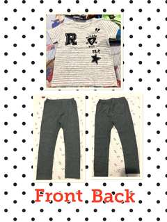 Original Zara Kids Top and Uniqlo Jeggings for Kids