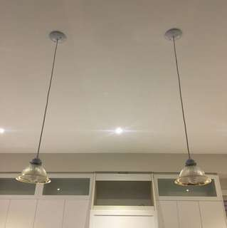 Pendents and dining room light