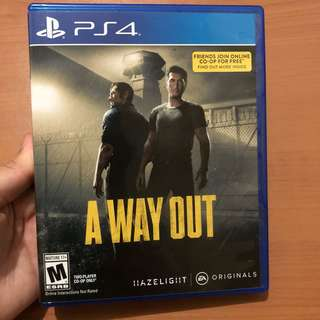 A Way Out (for Playstation 4 / PS4)