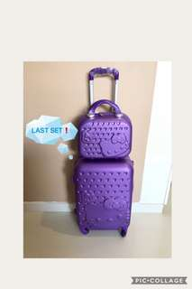 LAST SET❗️⚡️New Colour Crystal Purple⚡️FREE Hello Kitty luggage cover👏🏻 Brand New Hello Kitty luggage set @ $89. Ideal as 🎁gifts or for your own use❗️Do refer to photos & descriptions on my ad 👌🏻