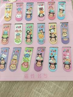 Disney tsum tsum magnetic bookmarks