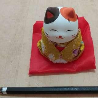 🚚 日本 和服 招財貓 微笑 療癒 公仔 餐廳 擺飾 禮物