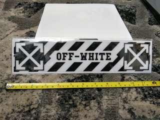 OFF-WHITE Decals last 2 pcs