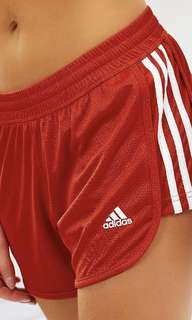 Adidas 3 stripe knit shorts