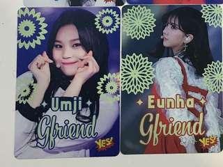 GFriend 夜光 Yes Card (Umji, Eunha)