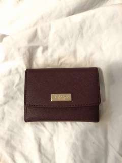 KATE SPADE - Genuine Leather Snap Wallet