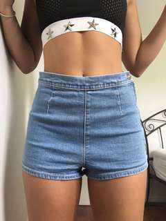 Neuw high waisted denim shorts