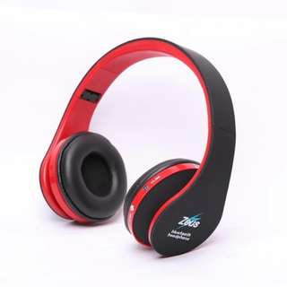Zeus z-300 foldable bluetooth wireless/wired 2 in 1 headphone
