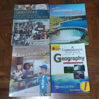 Sec 1 Express School Textbooks and Assessment Books