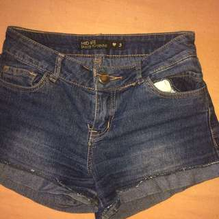 Mid Rise Summer Denim Jean Shorts