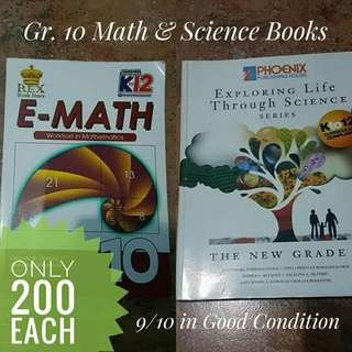 Grade 10 School Books