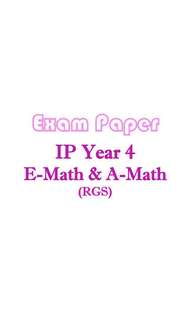 2017 RGS Sec 4 IP AMath and EMath exam papers / Integrated Programme / IP school / Raffles Girls School / Mathematics / Additional Mathematics / test papers / Year 4 / Y4 / top school papers / past year papers / RGS and RI combines common test