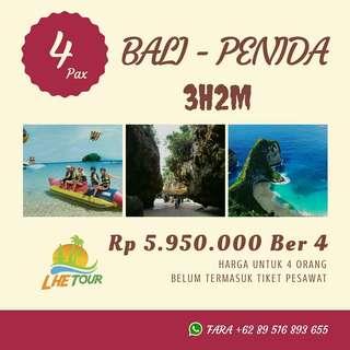 Paket Liburan Bali - Penida untuk 4 Orang