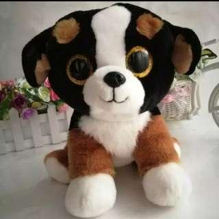 (Free postage) NEW Ty Beanie Boos Dog (Roscoe) Plush Toy 6 inches b3e50e22268a