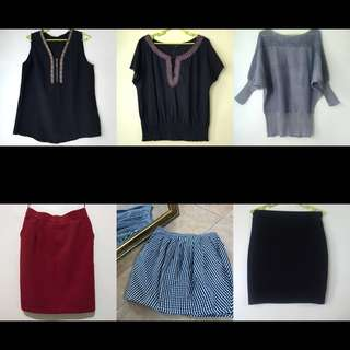S-M Tops and Skirts Take-All