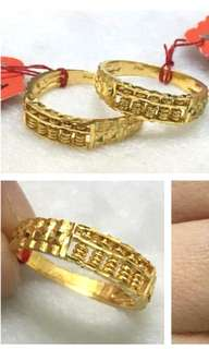 916 Gold Adult Ring Abacus size 14 / 16 /17 /18 👉COD Available👈