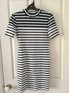 T BY ALEXANDER WANG stripe short sleeve dress - size S BNWT!