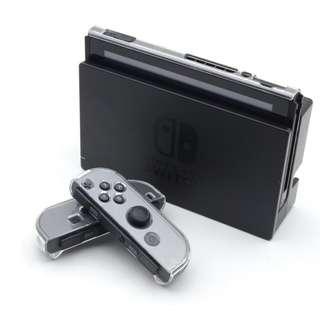 任天堂 Nintendo Switch 主機 可放底座 Joy-Con 手掣水晶殼 代用 可放底座