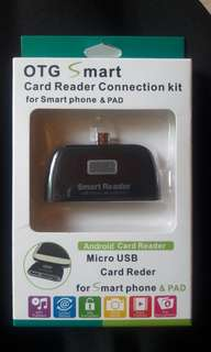 OTG Smart card reader connection kit