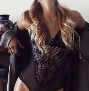 XS XSmall sheer Lace Bodysuit