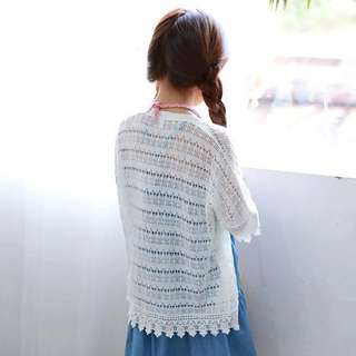 ☑️ INSTOCKS 3-15Y Girls White Lace Cardigan G21041F (Mother size available)