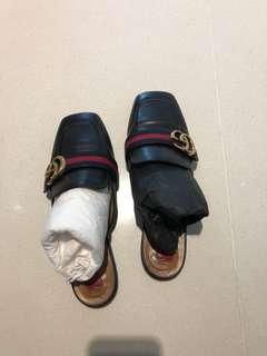 Black Gucci slip on