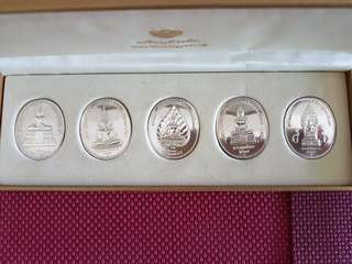 One set Silver Buddha medal 5pcs