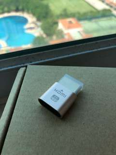 4K HDMI dongle dummy for eGFX