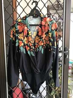 Zara flower bodysuit