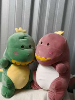 Plush toy standing dinosaurs