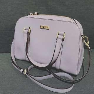 kate spade 粉紫色手袋