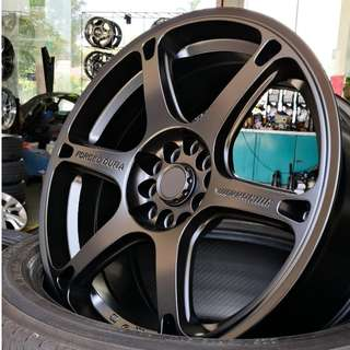 "TE037 Dura 17"" Matt Black 5X114.3"