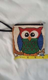 Small owl coin pouch