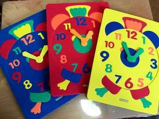Clock & Shapes Foam Puzzle