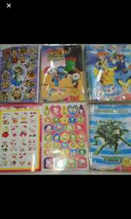 Instock Coloring Book And Stickers Book Brand New A5 size .. pm me For Bulk purchase
