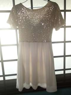 Gold- Sequined dress