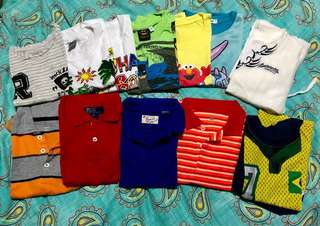 Assorted Branded Shirts and Poloshirts for Kids