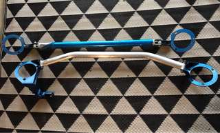 Cusco Front and Rear Strut Bar for Hawkeye WRX with Brake Stopper