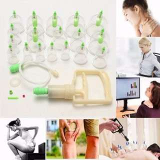 🚚 Effective 12 Cups Acupuncture Vacuum Cupping Suction Massage Device Set