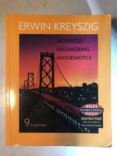 Advanced Engineering Mathematics for University
