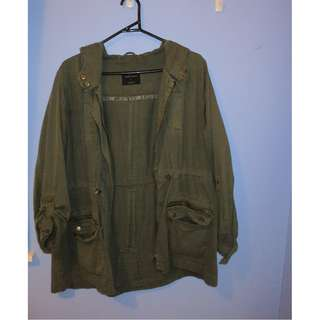 factorie green anorak