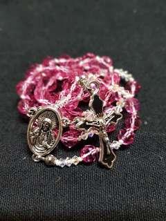 Handmade Rosary with Swarovki crystals