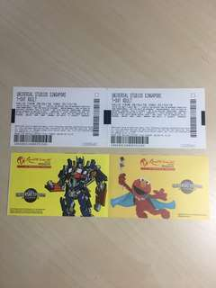 1 pair of USS tickets(Adults) for sale