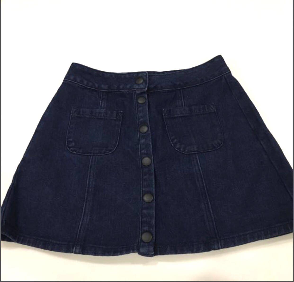 b3249a07cf Black Jean Skirt Brandy Melville – DACC
