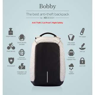 Xd design Bobby Anti-theft Backpack ( light grey )